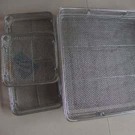飞安金属网厂生产 不锈钢器械消毒筐 医用器械消毒 当天发货