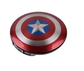 品牌MARVEC 漫威美國隊長之盾牌移動電源3600毫安培迪斯尼復仇者聯盟