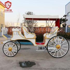 歐式雙排觀光馬車旅遊景區觀光馬車婚禮花車