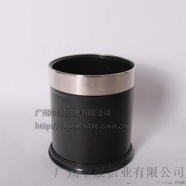 专业生产SITTY斯迪99.9221SB-P黑色银圈环状外套客房桶/垃圾桶