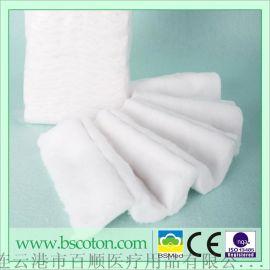 厂家生产美容美妆吸水棉片 一次性医用耗材方形无纺布医疗棉片