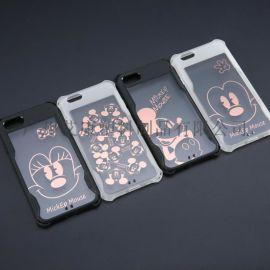 苹果防摔六代彩绘丝印手机壳批发,量大从优