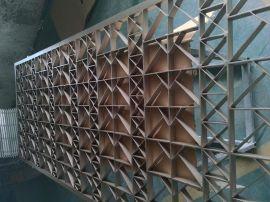 优质古建筑装饰铝合金窗花/木纹雕花铝窗花