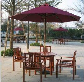 房地产户外木制桌椅 户外特价桌椅 户外小区休闲桌椅