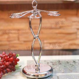 酒杯架 时尚创意耐用精致铁艺置地杯架 家居饰品厂家批发