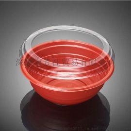 PS红色沙拉碗SLW216