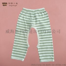 天然彩棉长袖婴儿开裆裤