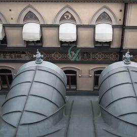 国产钛锌板 25-430型灰色钛锌板立边咬合屋面板