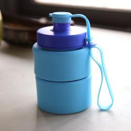 户外旅行登山水杯超便携折叠大容量杯子运动硅胶水壶学生水瓶
