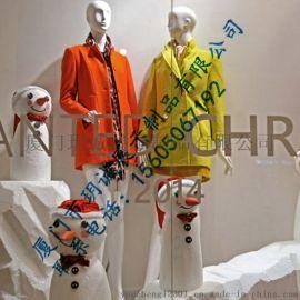 厂家直销雪人橱窗展示道具  个性橱窗装饰道具批发