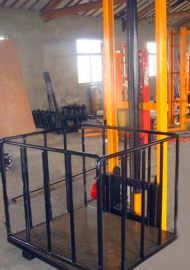 单轨链条式升降货梯  6米导轨式室内外升降梯/济南天越供应天津
