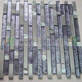 湖北荆州高性价比的欧式现代金属不锈钢马赛克瓷砖批发厂家