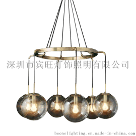 后现代简约玻璃圆球餐厅吊灯 客厅饭厅卧室展厅服装店创意吊灯