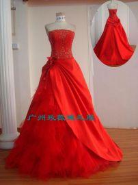大红色婚纱晚装(z0099)