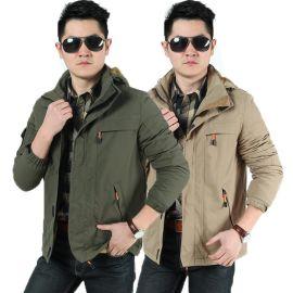 冲锋衣 纯色户外服装 情侣款加厚加绒滑雪服 防风冲锋衣 男士外套