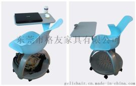 格友家具PCF-041T塑料带写字板培训椅厂家批发高档塑料培训椅