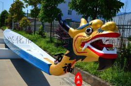 廠家直銷萬福12到24人手劃船端午節國際標準比賽木船玻璃鋼龍舟