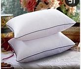 厂价直销五星级宾馆枕芯荆疆牌白色暗格蓝包边枕芯