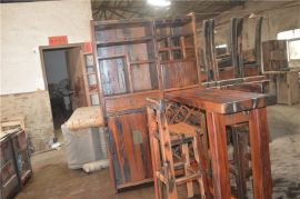 船木家具酒柜吧台,船木家用酒柜吧台,4人吧台,吧椅