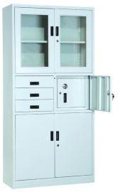 玻璃文件柜与更衣柜组合起来的柜子,厂家