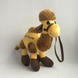 仿真骆驼公仔创意生日礼物年会礼物活动奖品毛绒玩具旅游景区批发