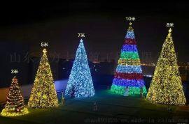 无穷大美陈新款大型圣诞树套餐圣诞节场景布置5/10/8米圣诞树厂家