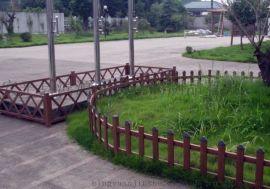 pvc柵欄 花園圍欄 公園草坪隔離柵 pvc草坪護欄