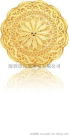 中秋节彩印黄金月饼工艺礼品