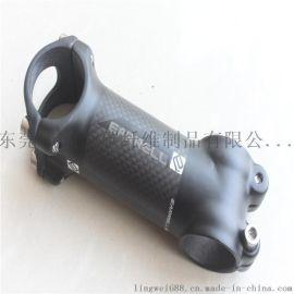 EARRELL铝+碳纤维管颈碳纤维自行车超轻管颈碳处理28.6-31.8mm 6度管颈