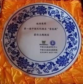 小紀念品瓷盤,景德鎮陶瓷禮品,批量生產盤子