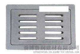 【淄博井盖厂】树脂雨水篦子 箅子排水地沟盖板 黑色整套300*500*40mm