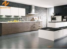 上海偉詢淺灰色木紋紋理進口雙飾面櫥櫃門板T-6070