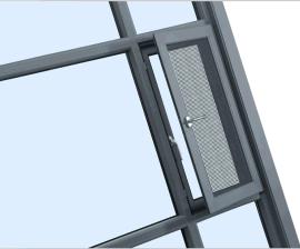 上哲85断桥金刚网一体窗,带防护网断桥一体窗高性价比