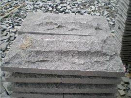 福建芝麻黑蘑菇石 外墙干挂 包柱文化石