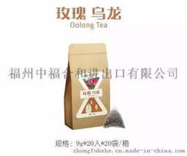 中福合和玫瑰乌龙三角茶包