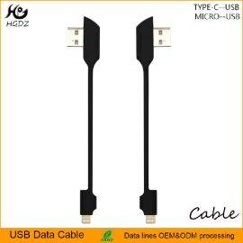 便攜式USB3.0手機3A電源快速充電數據傳輸同步線10CM黑色