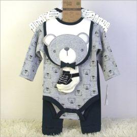 婴儿外贸服装套装五件套带衣架