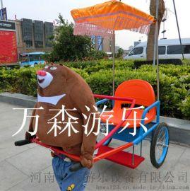 萬森機器人拉車 卡通玩偶拉車  可愛動物拉車