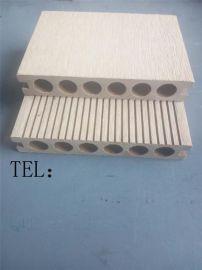 佛山木塑厂家直销户外塑木圆孔地板140-25MM圆孔单面板
