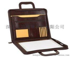 深圳东莞真皮牛皮公文包文件夹 证件照夹名片包皮套定做加工厂