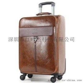 深圳红叶拉杆箱包专用革耐刮耐磨硅胶皮革