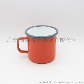 杯子搪瓷马克杯复古水杯办公室创意茶缸logo定制怀旧经典搪瓷杯