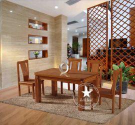 恒岳家具 厂家直销 美国红橡餐桌椅 长条桌子椅子 纯实木饭桌