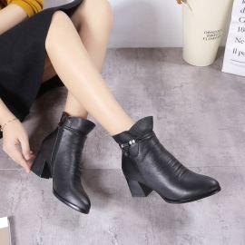 頭層牛皮女鞋短靴冬季新款豐尼貝爾32碼-41碼
