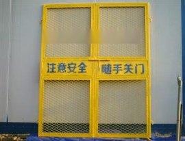 钢板网建筑防护门、定型工地施工电梯门、特殊规格可定做