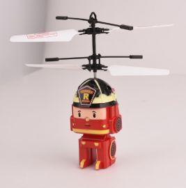 乐美佳超级飞侠变形警车珀利感应poli飞机交通拯救队韩国遥控感应飞行器