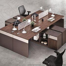 安徽办公家具职员办公桌 隔断办公桌4人6人位电脑经理财务桌