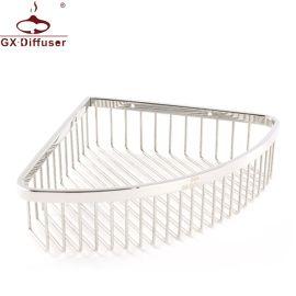 304不锈钢转角三角置物架 创意三角网篮卫生间浴室角架 厂家直销