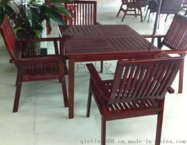户外实木套椅图片 户外园林桌椅 户外实木套椅图片