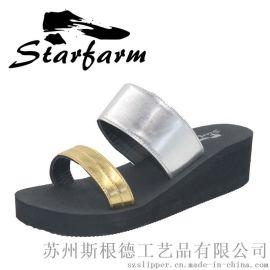 高跟人字拖女士坡跟防滑夾腳拖鞋夏季韓版厚底涼拖時尚沙灘鞋涼鞋